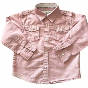 PD & C Button Down Long Roll Up Sleeve Size 4T